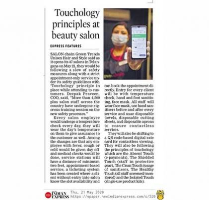 Touchology principles at the beauty salon